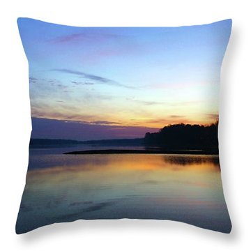 Sunset Florida Seascape Inlet 139a Throw Pillow