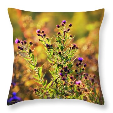 Throw Pillow featuring the photograph Sunset Flowers by Christina Rollo