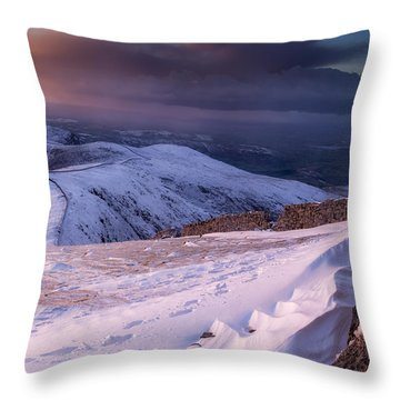 Sunset Following The Mourne Wall Throw Pillow