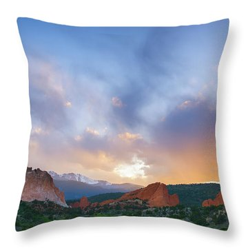 Throw Pillow featuring the photograph Sunset Forever by Tim Reaves