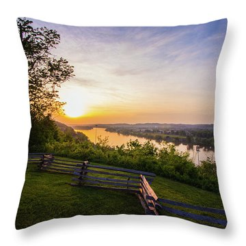 Sunset From Boreman Park Throw Pillow