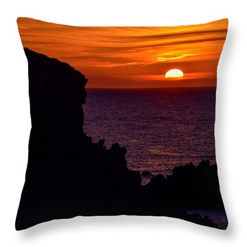 Sunset From Costa Paradiso Throw Pillow