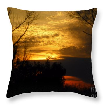 Sunset From Farm Throw Pillow by Craig Walters