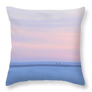 Sunset From Irish Beach Throw Pillow
