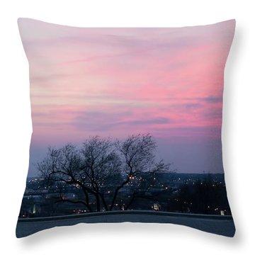 Sunset From Liberty Memorial Throw Pillow