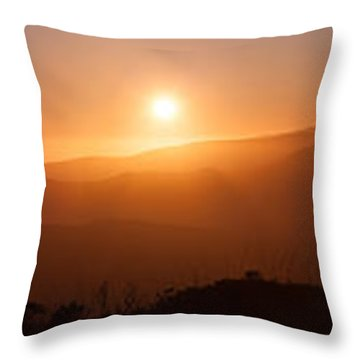 Sunset From Marine Headlands San Francisco Throw Pillow