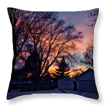 Sunset From My View Throw Pillow by Kathy M Krause