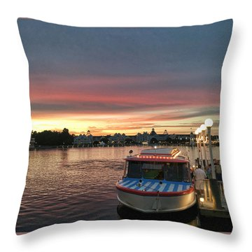 Sunset From The Boardwalk Throw Pillow