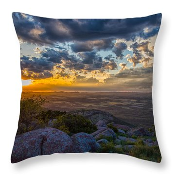 Sunset From The Heavens Throw Pillow