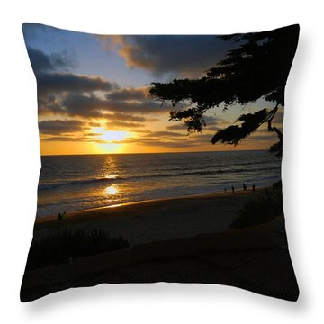 Throw Pillow featuring the photograph Sunset From The Staircase by Bill Dutting