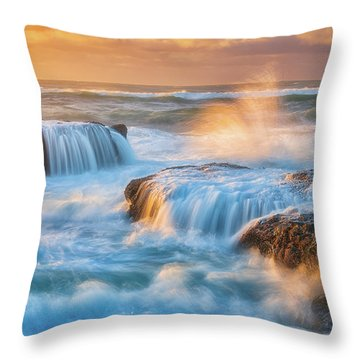 Throw Pillow featuring the photograph Sunset Fury by Darren White
