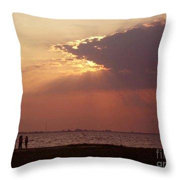 Sunset Gathering Throw Pillow