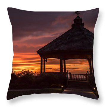 Sunset Gazebo Lavallette New Jersey Throw Pillow