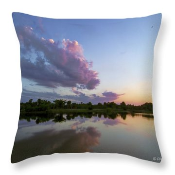 Throw Pillow featuring the photograph Sunset Glow by Don Durfee