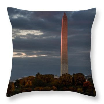Sunset Glow Throw Pillow by Ed Clark