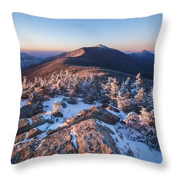 Sunset Glow On Franconia Ridge Throw Pillow