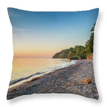 Sunset Glow Over Lake Throw Pillow