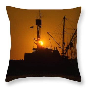 Throw Pillow featuring the photograph Sunset Harbor by Marie Leslie