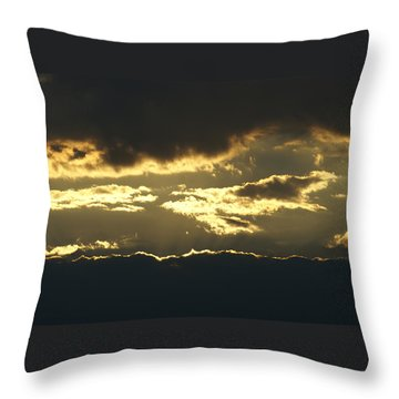Sunset Throw Pillow by Heidi Poulin