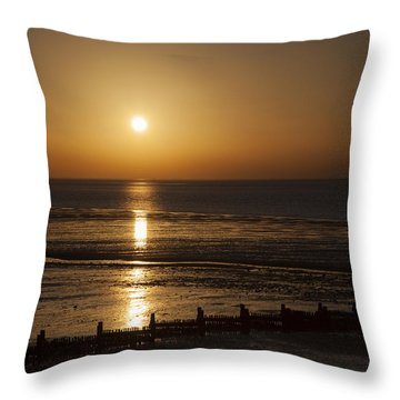 Sunset Hunstanton Throw Pillow