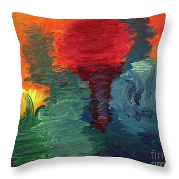 Throw Pillow featuring the painting Sunset I by Ania M Milo
