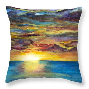 Sunset II Throw Pillow by Suzette Kallen
