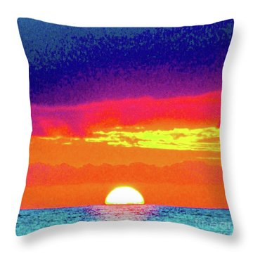 Sunset In Abstract 500 Throw Pillow