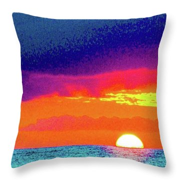 Sunset In Abstract  Throw Pillow