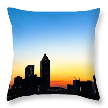 Sunset In Atlaanta Throw Pillow