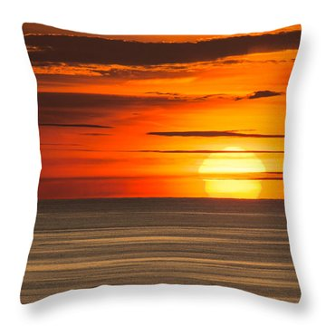 Sunset In Bermuda Throw Pillow