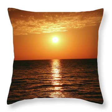 Sunset In Bimini Throw Pillow
