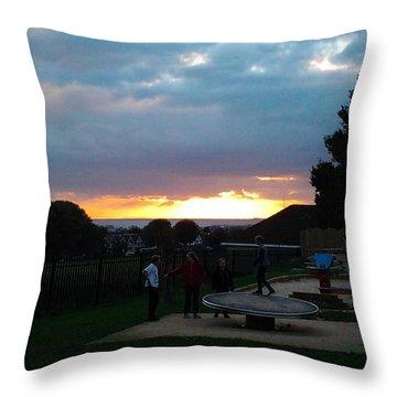 Sunset In Brighton Throw Pillow