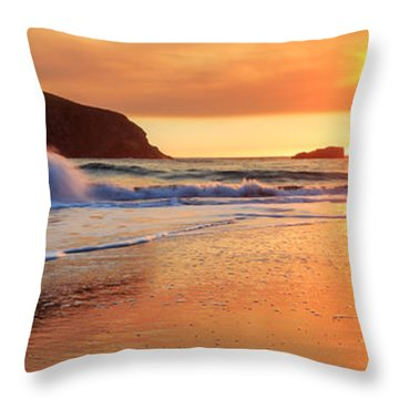 Throw Pillow featuring the photograph Sunset In Brookings by James Eddy