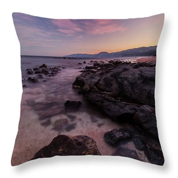 Sunset In Cala Gonone Throw Pillow