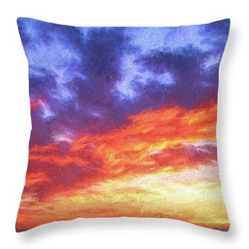 Sunset In Carolina Throw Pillow