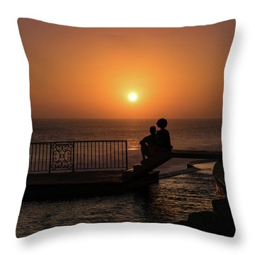 Sunset In Cerritos Throw Pillow