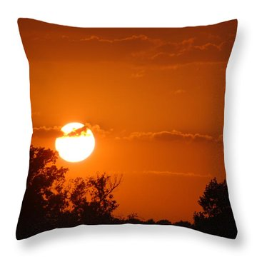 Throw Pillow featuring the photograph Sunset In Charleston by Donna Bentley