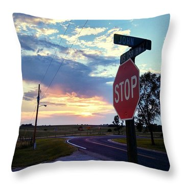 Sunset In Effingham Fair Throw Pillow by Dustin Soph