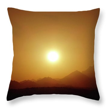 Sunset In Egypt 7 Throw Pillow