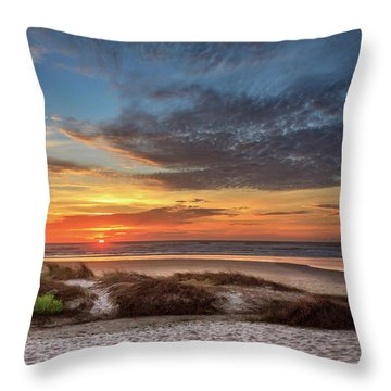 Throw Pillow featuring the photograph Sunset In Florence by James Eddy