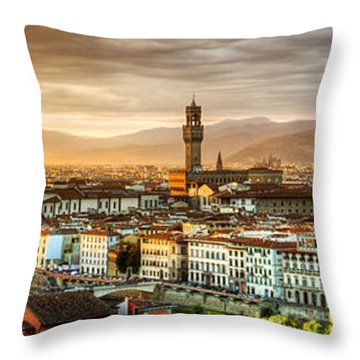 Sunset In Florence Throw Pillow