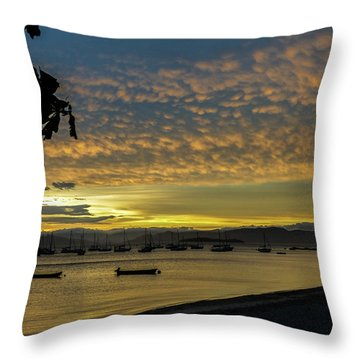 Sunset In Florianopolis Throw Pillow