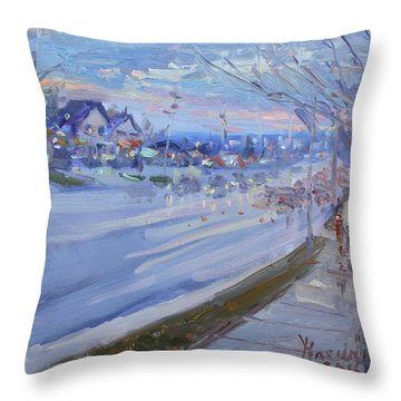Sunset In Guelph St Georgetown On Throw Pillow