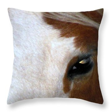 Sunset In Her Eyes Throw Pillow