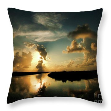 Sunset In Lacombe, La Throw Pillow