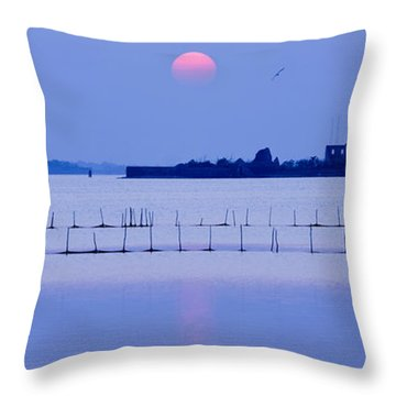 Sunset In Laguna Throw Pillow