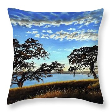Sunset In Lucerne Throw Pillow by Linda Becker