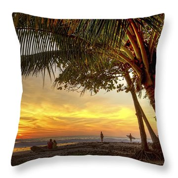 Sunset In Mal Pais Throw Pillow