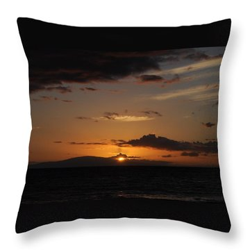 Sunset In Maui 2 Throw Pillow by Michael Albright