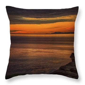 Sunset In May Throw Pillow by Randy Hall